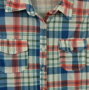 French Laundry Tops - Last chance donated soon- -Flannel MD Blue/Orange